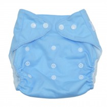 Summer Grid Baby Cloth Diaper Cover Adjustable Size Sky Blue