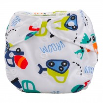 Summer Grid Baby Cloth Diaper Cover Adjustable Size Sedan Car Pattern