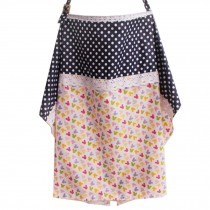 Utility Breast Feeding Nursing Cover with Neck Brace,Dot