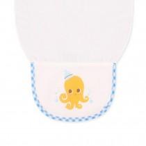 Cute Cartoon Baby Sweat Absorbent Towel Perspiration Wipes Towel ,Octopus