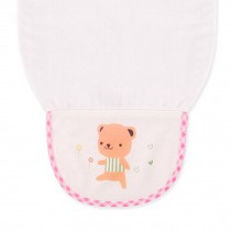 Cute Cartoon Baby Sweat Absorbent Towel Perspiration Wipes Towel,Brown Bear