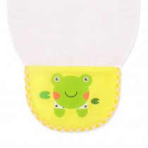 Cute Cartoon Baby Sweat Absorbent Towel Perspiration Wipes Towel,Frog Yellow