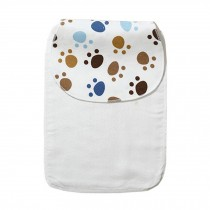 Cute Cartoon Baby Sweat Absorbent Towel Perspiration Wipes Towel,Footprint