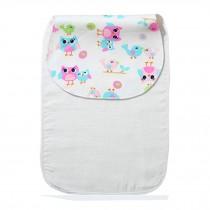 Cute Cartoon Baby Sweat Absorbent Towel Perspiration Wipes Towel,Owl