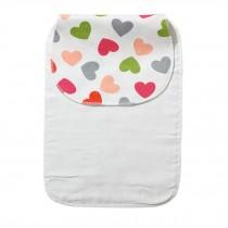 Cute Cartoon Baby Sweat Absorbent Towel Perspiration Wipes Towel,Heart