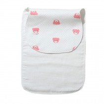 Cute Cartoon Baby Sweat Absorbent Towel Perspiration Wipes Towel,Pink Bear