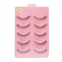 5 Pairs Handmade Natural Soft False Eyelashes Fake Eye Lash, High Quality