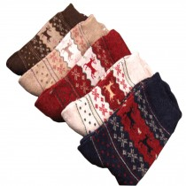 Set of 5 Pairs Women Autumn/Winter Thicken Warm Cute Cotton Socks Deer