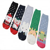 Set of 5 Pairs Women Autumn/Winter Thicken Warm Cute Cotton Socks O