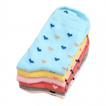 Set of 5 Pairs Women Autumn/Winter Thicken Warm Cute Cotton Socks P