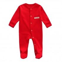 Unisex Long Sleeve Baby Bodysuit Infant Coverall Kid Sleeper, Red