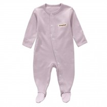 Unisex Long Sleeve Baby Bodysuit Infant Coverall Kid Sleeper, Light Purple