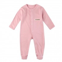 Unisex Long Sleeve Baby Bodysuit Infant Coverall Kid Sleeper, Pink