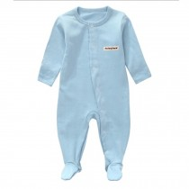 Unisex Long Sleeve Baby Bodysuit Infant Coverall Kid Sleeper, Blue
