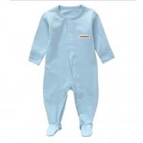 Unisex Long Sleeve Baby Bodysuit Infant Coverall Kid Sleeper, Blue