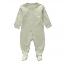 Unisex Long Sleeve Baby Bodysuit Infant Coverall Kid Sleeper, Pea Green