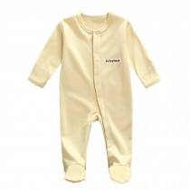 Unisex Long Sleeve Baby Bodysuit Infant Coverall Kid Sleeper, Yellow