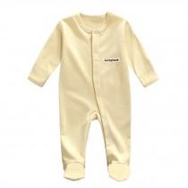 Unisex Long Sleeve Baby Bodysuit Infant Coverall Kid Sleeper, Yellow