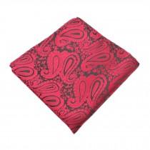 Gentlemen's Elegant Pocket Square Handkerchiefs With Beautiful Pattern, Red