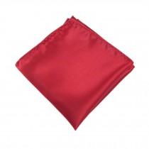 Gentlemen's Elegant Pocket Square Handkerchiefs, Pure Red