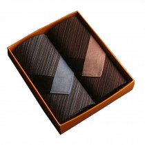 Set of 2 Men Pocket Square 100% Cotton Soft Striated Handkerchiefs ,Blue/Red