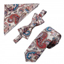 Mens Fashionable Wedding Ties Set Necktie/Bow Tie/Pocket, Special Pattern