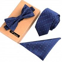 Mens Square Fashionable Necktie/Bow Tie/Pocket Formal/Informal Ties Set