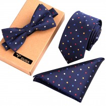 Necktie/Bow Tie/Pocket Square Fashionable Formal/Informal Ties Set Necktie Knot