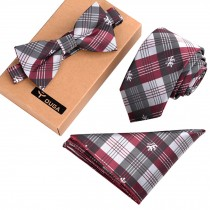 Mens Formal/Informal Necktie/Bow Tie/Pocket Square Fashionable Ties Set