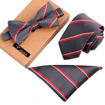 Stylish Formal/Informal Ties Set Necktie/Bow Tie/Pocket Square Fashion Cravatta
