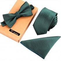 Mens Formal/Informal Ties Set, Necktie/Bow Tie/Pocket Square Wedding Ties