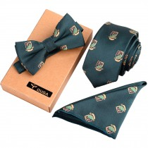Necktie/Bow Tie/Pocket Square Formal/Informal Ties Set Neckties For Men & Boy