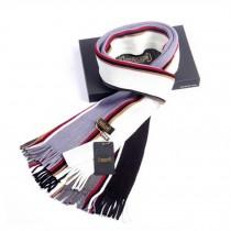 Winter Men's Stylish Scarf Colorful Striped Knitting Long Scarf Purple/White