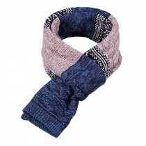 Winter Men's Stylish Scarf Knitting Long Scarf Colorant Match Scarf Blue & Pink