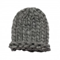Soft Winter Crochet Cap Hat, Classic Style, High-Quality Wool cap, Gray