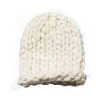 Soft Winter Crochet Cap Hat, Classic Style, High-Quality Wool cap, White