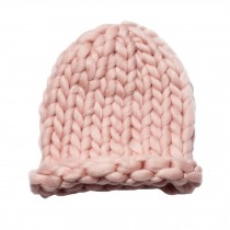Soft Winter Crochet Cap Hat, Classic Style, High-Quality Wool cap, Pink