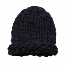 Soft Winter Crochet Cap Hat, Classic Style, High-Quality Wool cap, Navy