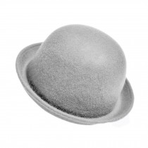 Billycock/ Homburg/ Women  Trendy  Bowler Hat Cap/ Classic Style, Gray