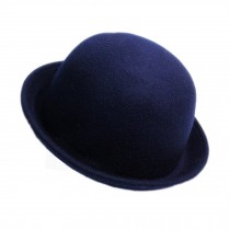 Billycock/ Homburg/ Women  Trendy  Bowler Hat Cap/ Classic Style, Navy