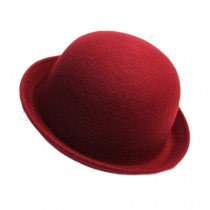 Billycock/ Homburg/ Women  Trendy  Bowler Hat Cap/ Classic Style, Red