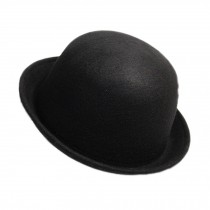 Billycock/ Homburg/ Women  Trendy  Bowler Hat Cap/ Classic Style, Black