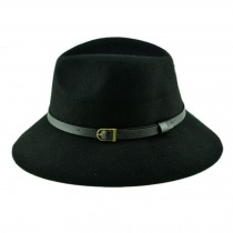 Billycock/ Women  Trendy  Bowler Hat Cap/ Classic Style/ Homburg, Black