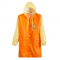 Cute Raincoat Waterproof Raincoat Toddler For Unisex Kids,Orange