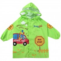 Cute Waterproof Raincoat Unisex Kids Raincoat Toddler, Green