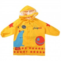 Cute Waterproof Raincoat Unisex Kids Raincoat Toddler, Yellow