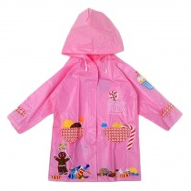 Unisex Kids Waterproof Raincoat Raincoat For Toddler, Pink