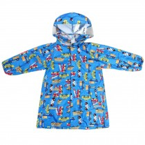 Unisex Kids Waterproof Raincoat Raincoat Toddler With Beautiful Pattern, Blue