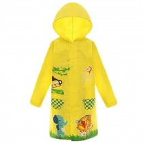 Waterproof Raincoat Toddler Raincoat For Unisex Kids , Yellow