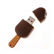 Lovely Mini Chocolate Popsicle USB 2.0 Flash Drive Memory Stick/Disk 16GB Brown